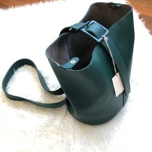 NWT A New Day Forest Green bucket 3 in 1 bag